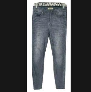 "Madewell 9"" High Rise Skinny Jeans Gray Denim 27"